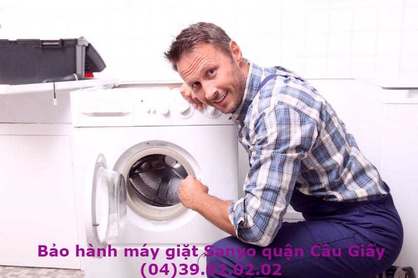 bảo hành máy giặt sanyo quận cầu giấy