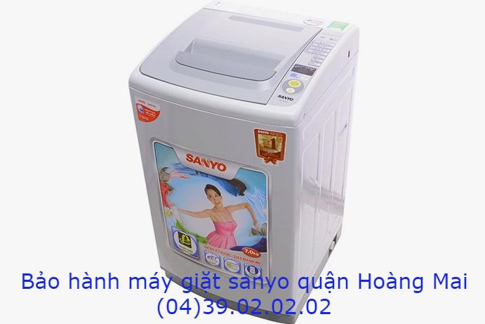 bảo hành máy giặt sanyo quận hoàng mai