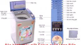 bảo hành máy giặt sanyo quận long biên