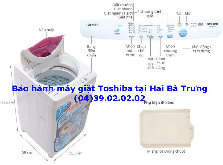 trung tâm bảo hành máy giặt Toshiba tại quận Hai Bà Trưng