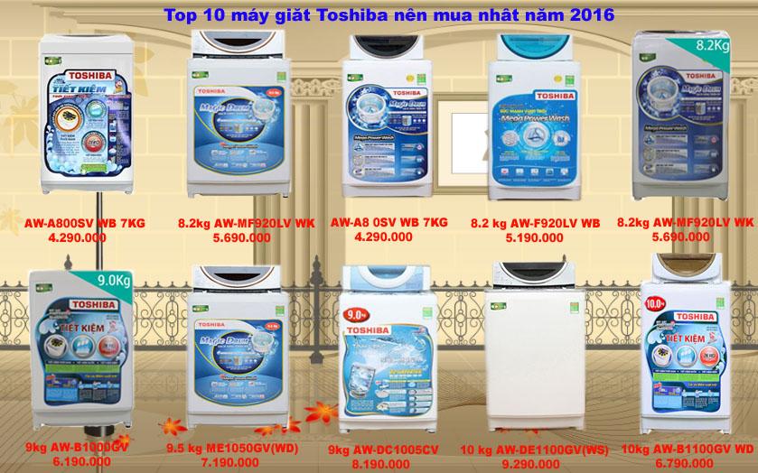 top 10 máy giặt toshiba bán chạy nhất 2016