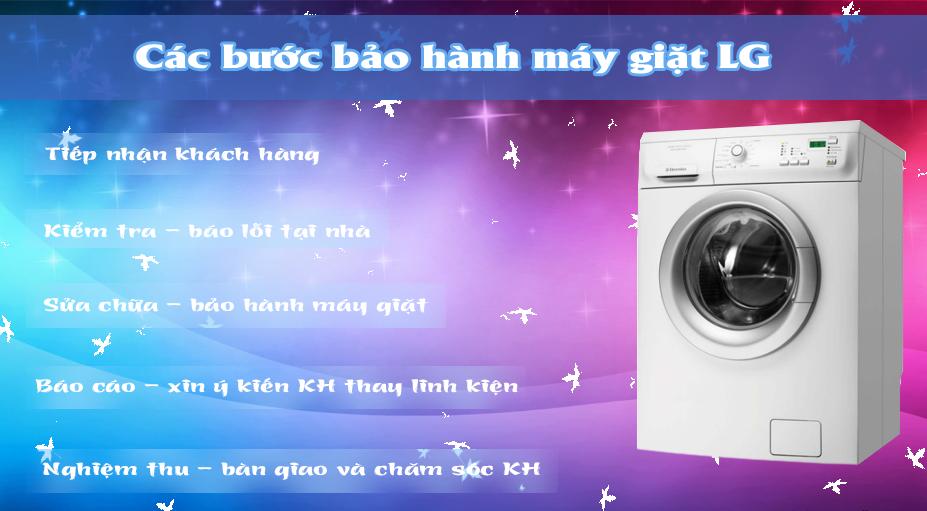 các bước bảo hành máy giặt LG